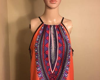 Brand new Band of Gypsies colorful Bohemiam Halter dress size M