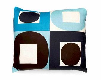 Decorative pillow, cushion cover, geometric print fabric, throw pillow, multicoloured pattern, home accessories, home decor, cushion, pillow