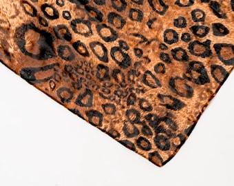 Infinity scarf, animal print scarf, snood, loop scarf, leopard scarf, women's tube scarf, ladies scarf, modern scarf, leopard print scarf