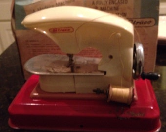 Vintage Toy Sewing Machine, Straco, Sew-O-Matic, early 60's