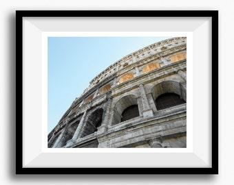 Printable Italy Rome Colosseum Photo, 8X10, Wall Art, Interior Decor, House Print, Architecture Photo, Travel Photography, Instant Download