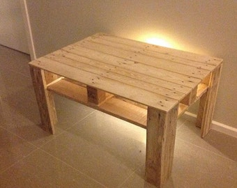 Coffee Table from Pallets, with shelf