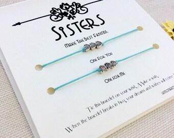 Sister Wish Bracelet Sister Gift Sister Bracelet Sisters Gift Big Sister Bracelet Sister Gift Topper Gift for Sister Bracelets for 2