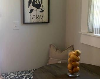 Rustic Art Panel Cow, Rustic Wall Art, Dairy Farm Painting, Rustic Home Decor, Rustic Art Work, Farmhouse Art