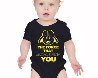 The force that awakens you  baby bodysuit vest baby grow.