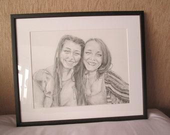 A3 Pencil Portrait (x2 Persons)