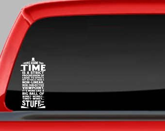 Doctor Who Car Decal, Tardis  Window Sticker, laptop Sticker, The Doctor sticker