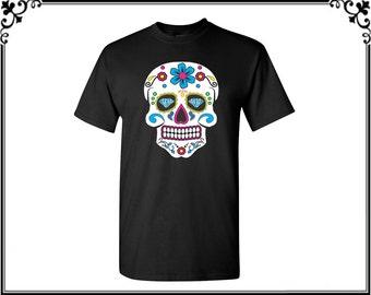 Sugar Skull With Diamond Men's T shirt Diamond Sugar Skull T shirt Sugar Skull Tees Sugar Skull Shirt Best Gift For Him