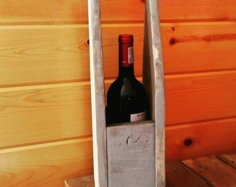 Wood Wine Caddy/Carrier