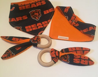 Chicago bears bandana bib