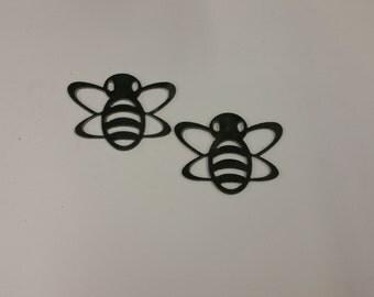 Bee metal art, bee home decor, bee wall art, bee garden decor