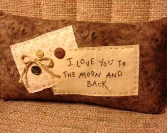 Cute I Love You Pillow