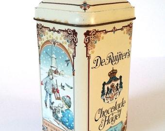 Old 'De Ruijter's Milk Chocolate sprinkles' tin