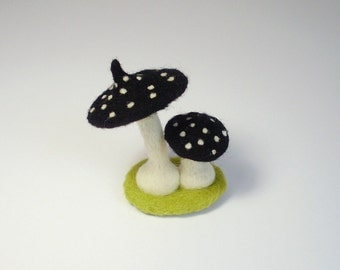 Saucy mushroom of hand-felted luck
