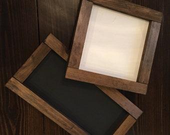 Framed wood sign, create your own framed sign, custom wood framed sign, farmhouse framed wood sign