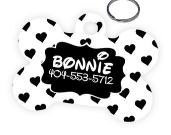 Hearts Custom Personalized Pet Tag for Dog