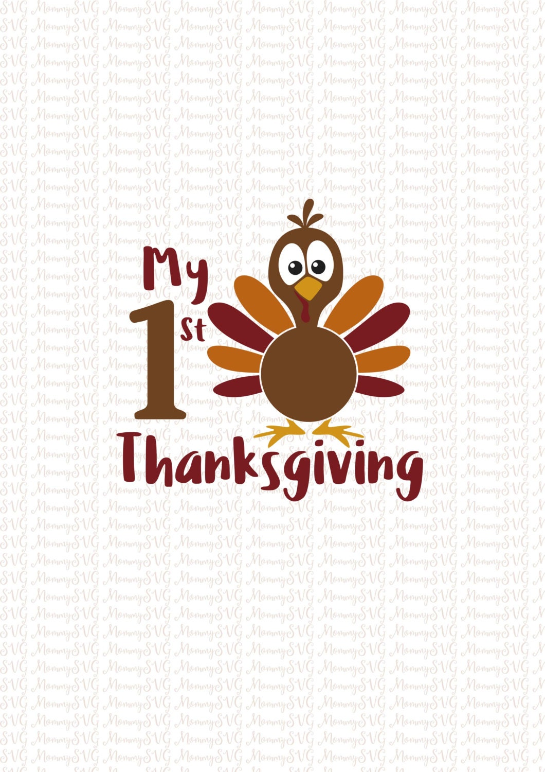 My First Thanksgiving Svg Cut Files Cricut Png Silhouette
