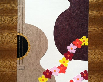 Handmade Guitar Musical Instrument Card