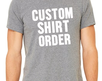 custom vinyl t shirt etsy