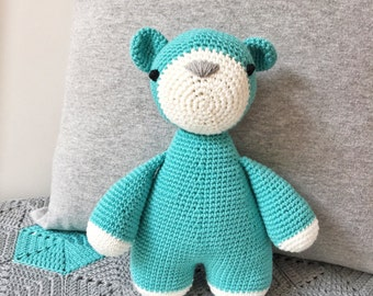 MEDIUM BEAR Amigurumi, Baby and Toddler toy, handmade toy, gift for kids, gift for baby, *made to order*