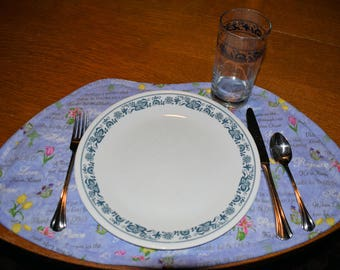 round table placemats easter design