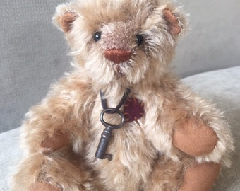 Rufus - artist made, hand-made, mohair, teddy bear, collectible, one-of-a-kind
