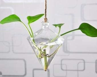 Hanging Vase Hanging Terrarium Hanging Glass Planter Clear Flower Planter Wedding Indoor Home Decoration
