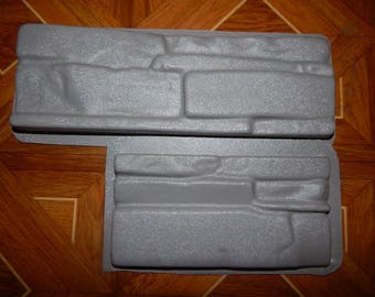 2pcs Plastic Molds for Concrete Plaster Wall Stone Tiles for Garden Decoration Wall