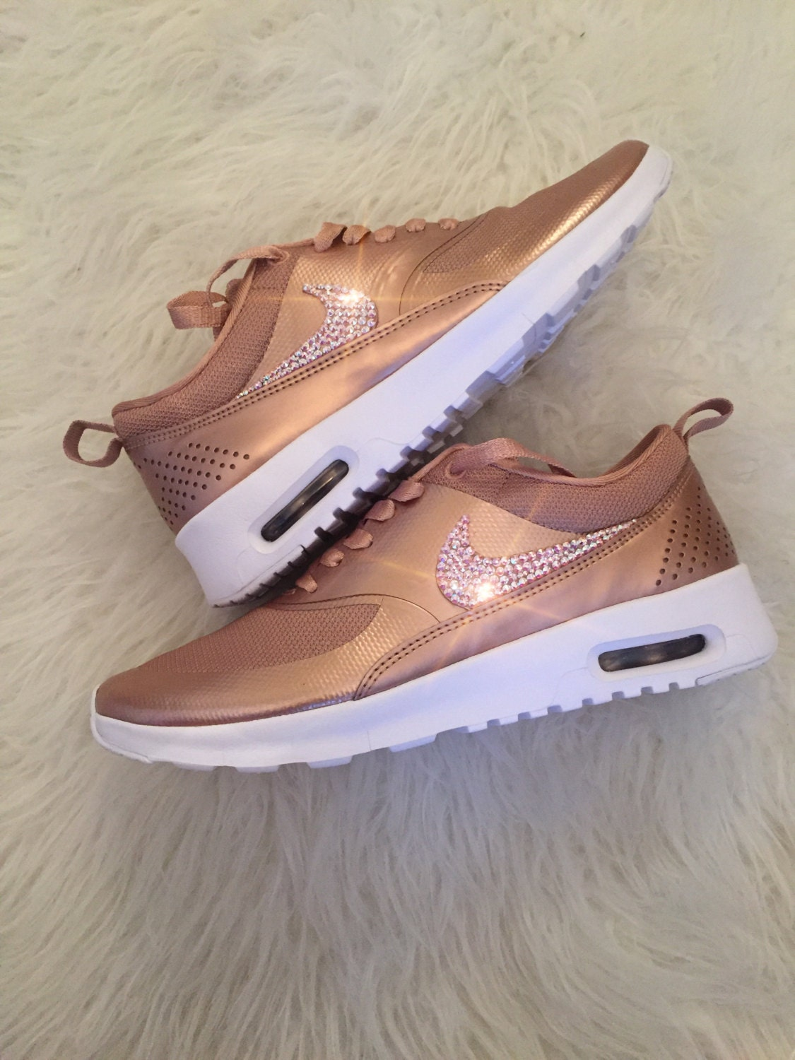 nike air max thea rose gold with swarovski crystals. Black Bedroom Furniture Sets. Home Design Ideas