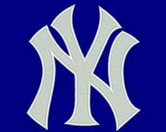9 Size New York Yankees Embroidery Design Baseball Embroidery Designs Instant Download Machine Embroidery Designs PES