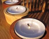 Set of 4 Barrel Bung tea lights