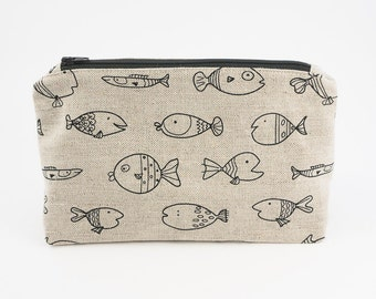 Fish Make Up Bag | Cosmetic Zipper Pouch | Travel Organiser