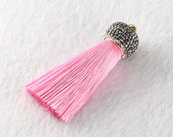 Tassels DIY Craft Supplies Pink Jewelry tassels Chunky tassel Short Boho tassels Small tassels Fringe Trim Womens Gift