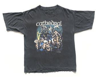 1992 Cathedral vintage band T-shirt - XL - Electric Wizard, Goatsnake, Pentagram