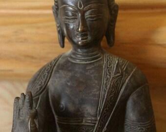 """8"""" Inch Amoghasiddhi Buddha Statue - Buddha Of Fearlessness"""