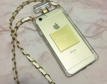 iPhone 6/6s. Chic Transparent / Clear Chanel perfume bottle case.
