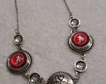 NCAA 3 Snap Alabama Crimson Tide Necklace