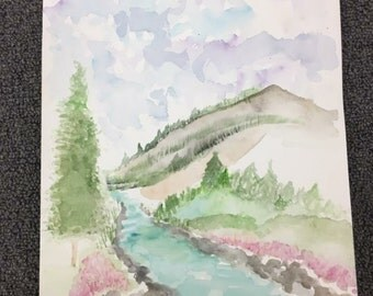 Nature watercolor painting