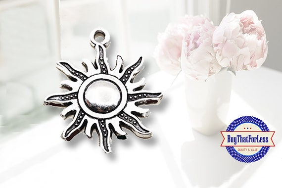 Sun Charms for Bracelets or Earrings, 3 pcs  **FREE Shipping with orders 10 dollars+**