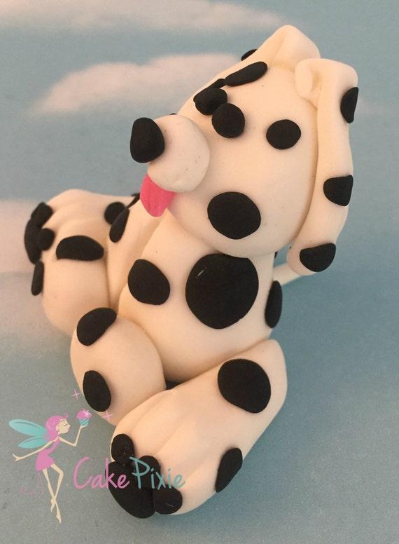 Edible Dog Cake Decoration : Dalmatian Dog Fondant Cake Topper. Edible Figures. Cake Decoration. Birthdays from ...
