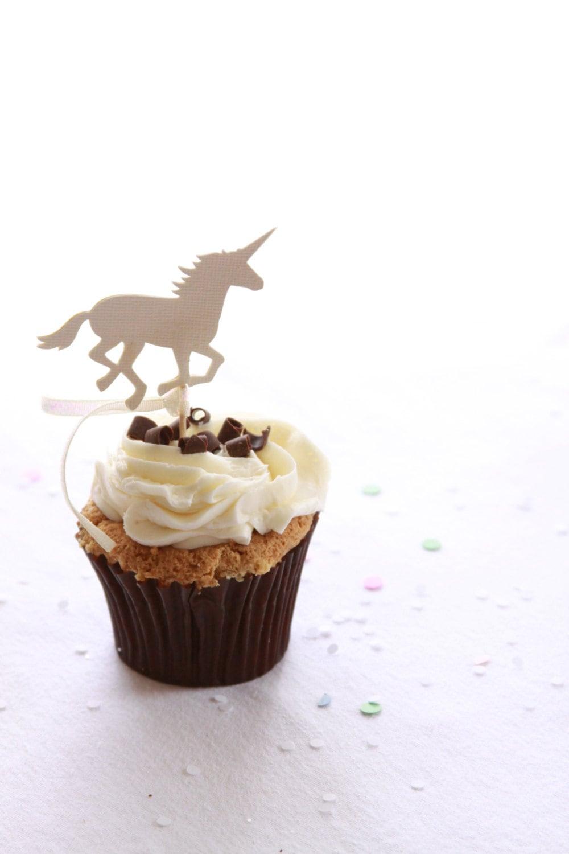 Unicorn Baby Shower Cupcake Topper Unicorn Bachelorette Unicorn