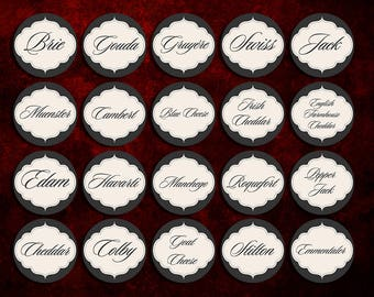 Wine and Cheese Party Markers/labels
