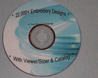 22,000 Singer & Compucon XXX Embroidery Designs on DVD/CDs/USB - Cartoons and More