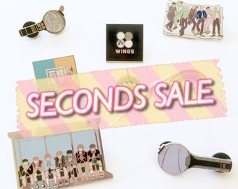 SECONDS SALE - 방탄소년단 BTS Wings Young Forever Hyyh Rainbow Army Bomb Enamel Pin Ynwa