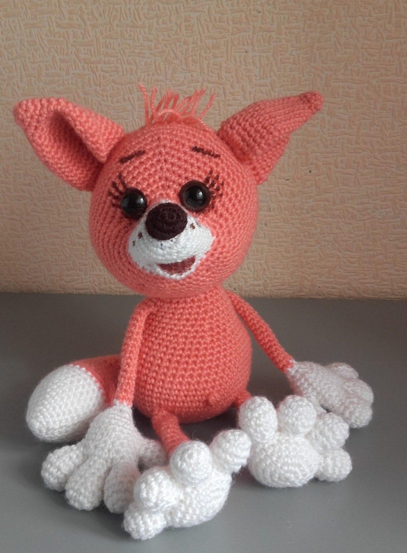 Amigurumi Toys For Babies : Crochet fox Crochet toy Amigurumi fox Gift for baby Stuffed