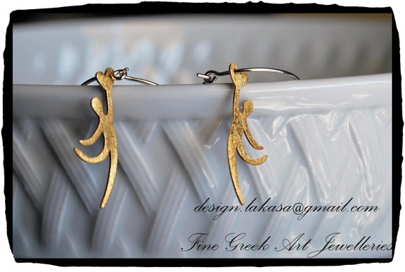 hoop earrings sterling silver gold plated jewellery follow your heart Lakasa eshop gifts for her woman girlfriend mama birthday anniversary