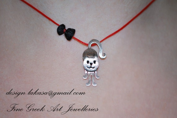 cat necklace sterling silver white gold plated jewelry best gifts ideas for her birthday anniversary love woman girl cute animal jewellery
