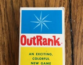 Rare vintage card game Outrank
