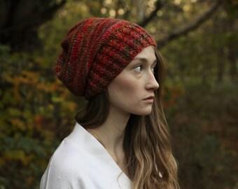Knit Hat - Slouchy Knit Hat - Winter Hat - Slouchy Beanie - Knit Wool Hat - Women Hat