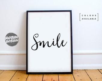 Smile - Wall Decor - Minimal Art - Home Decor